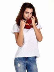 Czerwona chusta z motywem panterki