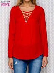 Czerwona koszula mgiełka z wiązaniem