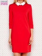 Czerwona sukienka z kołnierzykiem