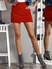 Czerwona trapezowa spódnica mini