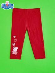 Czerwone legginsy dla dziewczynki ŚWINKA PEPPA