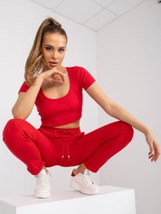 Czerwone spodnie Approachable