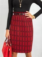 Czerwono-czarna spódnica Diaz