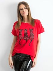 Czerwony t-shirt Kittens