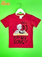 Czerwony t-shirt chłopięcy SMERFY