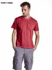 Czerwony t-shirt męski z efektem dekatyzowania Funk n Soul