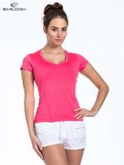 Czerwony t-shirt sportowy basic