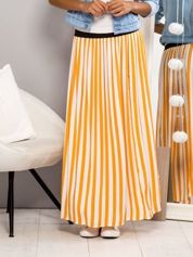 Długa spódnica maxi w paski pomarańczowa