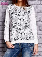 Ecru bluza z motywem kotów