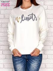 Ecru bluza z napisem NO LIMITS