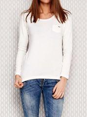 Ecru bluzka ze sznurowaniem na ramionach