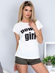 Ecru t-shirt POWER GIRL