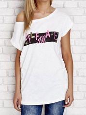 Ecru t-shirt z napisem SELFMADE