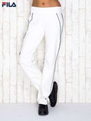 FILA Ecru spodnie dresowe z ciemnymi lampasami