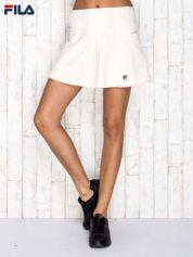 FILA Ecru sportowa spódnica sportowa z suwakiem