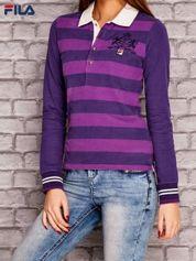 FILA Fioletowa bluzka w paski