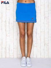 FILA Niebieska dopasowana spódnica mini