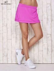 Fioletowe gładkie spodenki spódniczka tenisowa