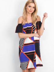 Fioletowo-czarna sukienka Camparee
