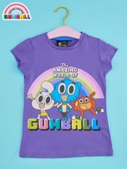 Fioletowy t-shirt chłopięcy GUMBALL