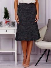 G by BACZYŃSKA Czarna midi spódnica z kolorową nicią