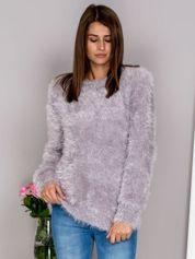 G by BACZYŃSKA Szary włochaty sweter