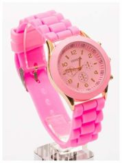 GENEVA Jasnoróżowy  zegarek damski na silikonowym pasku