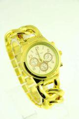 GENEVA Złoty zegarek damski na bransolecie