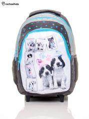 GRATIS!!! Plecak szkolny na kółkach z nadrukiem psów