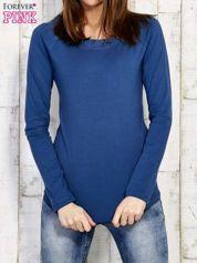 Gładka bluzka ciemnoniebieska