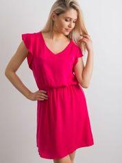 Gładka sukienka różowa