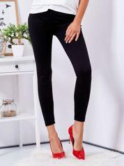 Gładkie dopasowane legginsy czarne