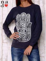 Grafitowa bluza z motywem dłoni