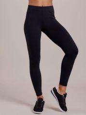 Grafitowe długie cienkie legginsy do biegania