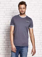 Grafitowy t-shirt męski z nadrukiem
