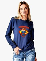 Granatowa bluza damska SUPER SZEFOWA