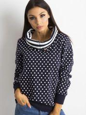 Granatowa bluza w groszki