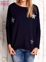 Granatowa bluza z błyszczącymi gwiazdkami