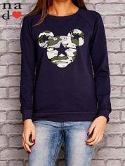 Granatowa bluza z nadrukiem moro