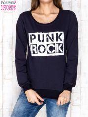 Granatowa bluza z napisem PUNK ROCK