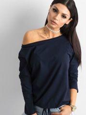 Granatowa bluzka Fiona