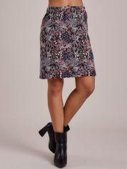 Granatowa spódnica mini bogato zdobiona