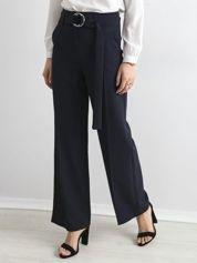 Granatowe spodnie z wysokim stanem