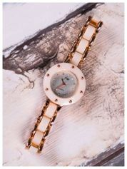 JW Damski zegarek delikatny RED GOLD w połączeniu z  kolorem kości słoniowej- idealny na prezent