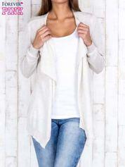 Jasnobeżowy niezapinany sweter z melanżowym efektem