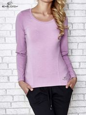 Jasnofioletowa bluzka sportowa z dekoltem U