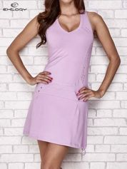 Jasnofioletowa trapezowa sukienka sportowa