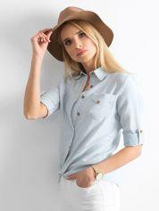 Jasnoniebieska bawełniana koszula