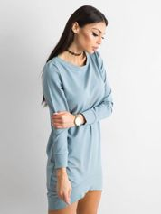 Jasnoniebieska dresowa tunika basic