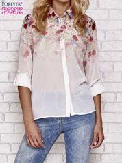 Butik Jasnoróżowa koszula mgiełka z nadrukiem róż